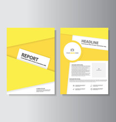 Yellow brochure flyer leaflet templates layout set vector