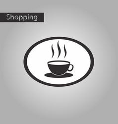 Black and white style icon logo coffee cup vector