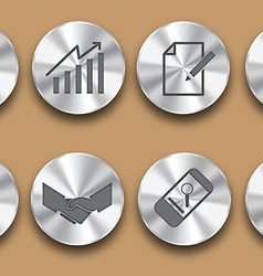 Business steel icon vector