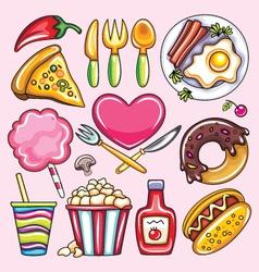 Cartoon of foods vector