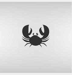 crab flat icon vector image vector image