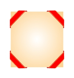 Decorative corner ribbons vector