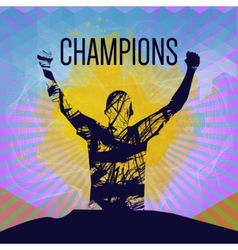 Digital abstract winner sportman champion vector image
