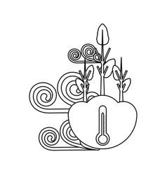 Dry trees icon vector
