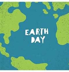Earth day concept Creative design poster for Earth vector image