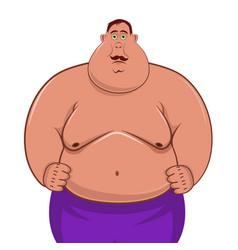 fat man cartoon character vector image