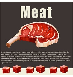 Food theme with meat products vector image