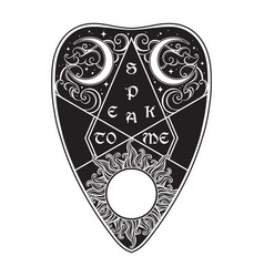 hand drawn art divination board planchette vector image vector image