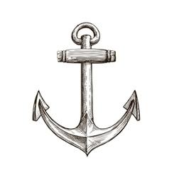 Hand drawn sketch anchor vector image vector image
