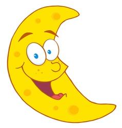 happy crescent moon vector image