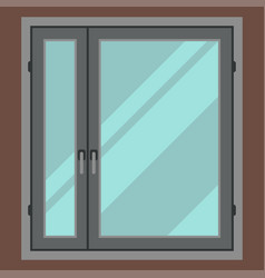 House window element flat style frame construction vector