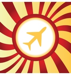 Plane abstract icon vector image vector image