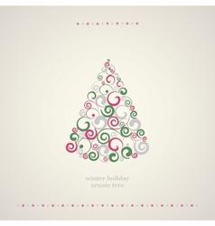 Winter holidays decoration tree vector image