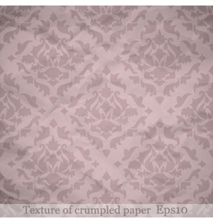 Crumpled paper background vector