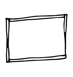 Hand drawn rectangle frame vector image
