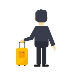 Man with travel bag vector