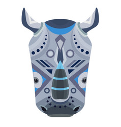 Rhino head logo decorative emblem vector