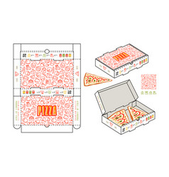 stock design of rectangular box for pizza slices vector image