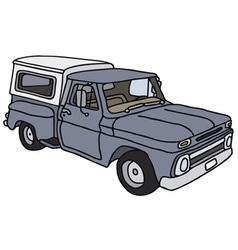 Blue pick-up vector