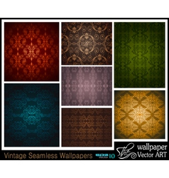 Vintage wallpapers vector
