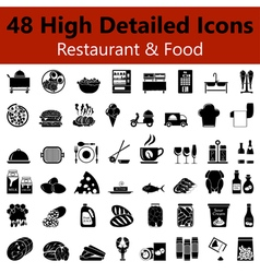 Restaurant and food smooth icons vector