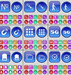 Number link silhouette magnet apps 5g battery vector