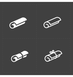 Scrolls icons with ribbon on dark background vector