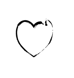 Heart shape symbol love black vector