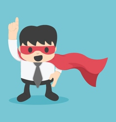Confident young businessman wearing a drawn cape vector