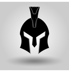 Spartans helmets full face silhouette vector
