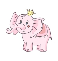 Baby elephant pink-01 vector