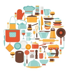 Background with kitchen and restaurant utensils vector image vector image