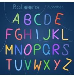 Balloons alphabet letters vector