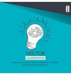 bulb light design vector image vector image