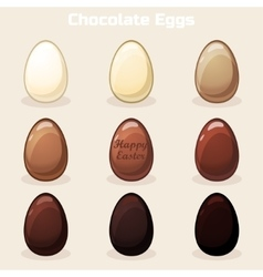 Cartoon Easter Chocolate Eggs vector image