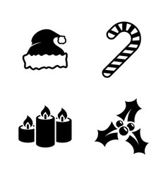 christmas simple related icons vector image vector image
