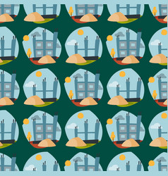 construction site seamless pattern industry vector image