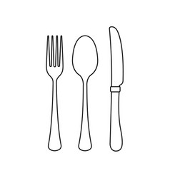 cutlery on a transparent background fork knife vector image vector image