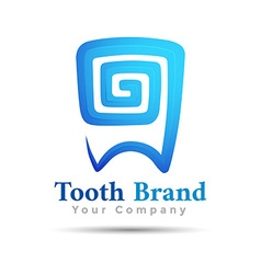 Dental logo tooth symbol design template for your vector