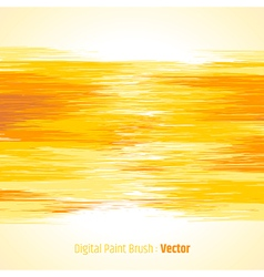 Digital paint background yellow vector image vector image