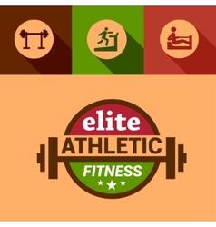 Flat elite fitness design elements vector