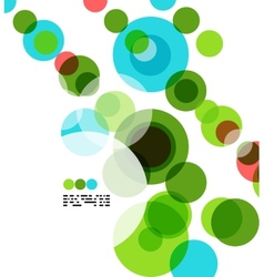 Geometric colorful circles background vector image