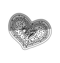 Heart romanticism symbol vector