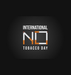 international no tobacco day background style vector image vector image