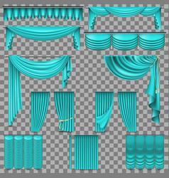 luxury set of golden velvet silk curtains eps 10 vector image