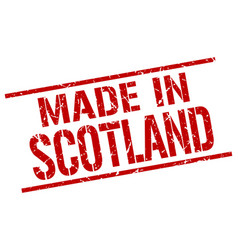 Made in scotland stamp vector