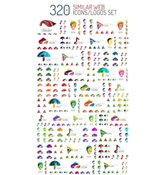Mega set of 320 similar web universal icon and vector