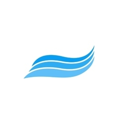 Ocean waves icon simple style vector