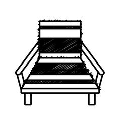 Outline chair beach relax wooden vector