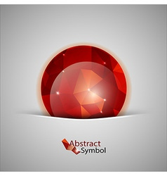 Red abstract ball vector